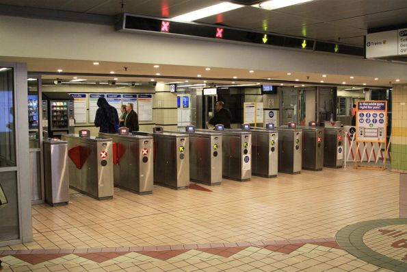 Ticket barriers at Town Hall station