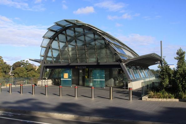 Street level entrance to North Ryde station