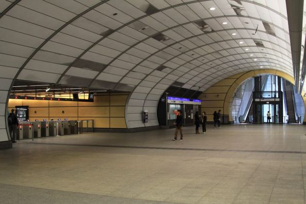 Main underground concourse at Macquarie University station
