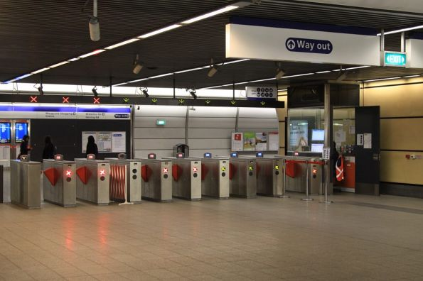 Ticket barriers at Macquarie University station