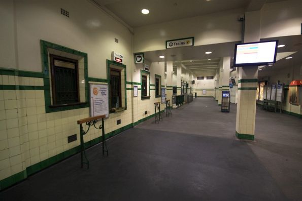 Ticket office windows at St James station