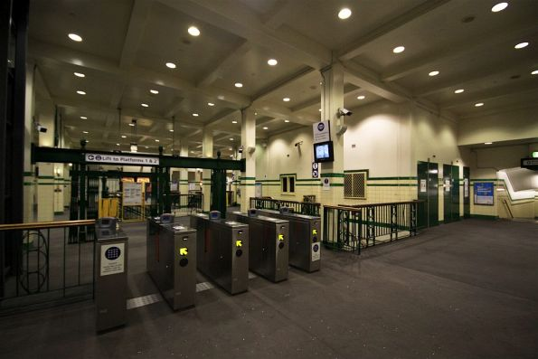 Ticket barriers at St James station