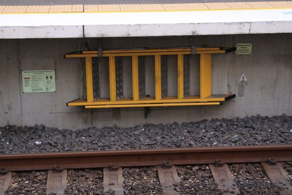 Emergency track to platforms stairs at Wolli Creek