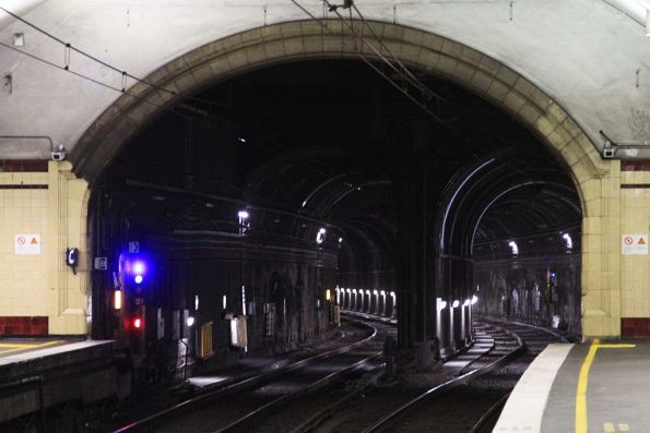 Double track tunnel turns into two single track ones