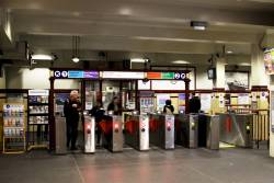Ticket barriers at the main entrance to Museum station