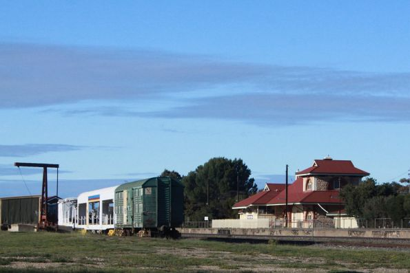 AN wagons stored beside Tailem Bend station