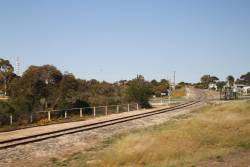 Loxton line curves into Tailem Bend