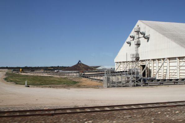 Conveyor belts run to the grain silos at Tailem Bend