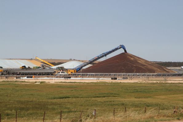 Ground level grain stockpiles at Tailem Bend