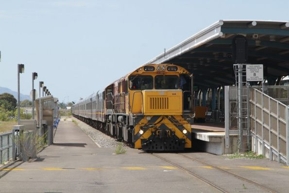 Locomotive 2152 still leading the train at Townsville