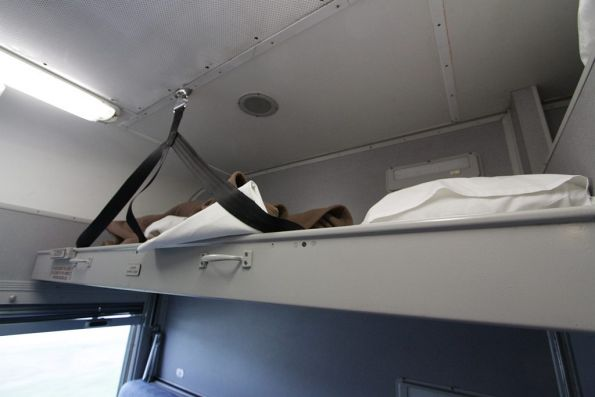 Top bunk onboard a triple-berth MBS sleeping carriage