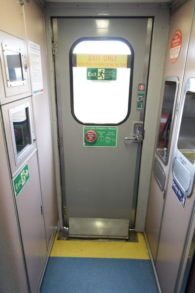 End vestibule of a 1980s-era L series 'Lander' carriage
