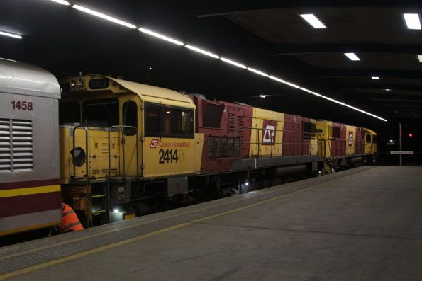 With everyone off the train at Cairns, the locomotives are uncoupled