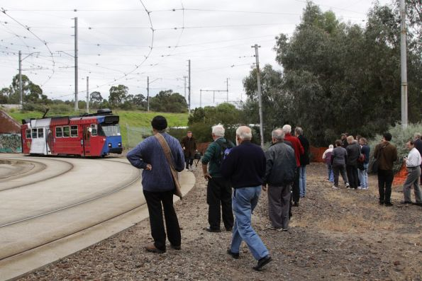 Photo line at Royal Park, waiting for a suburban train to pass over the top