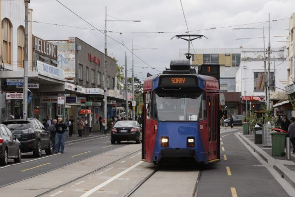 Half an hour later and Z3.158 returns to Footscray