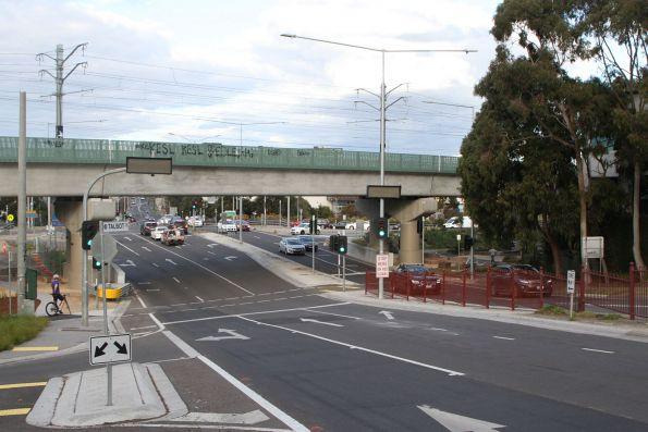 Completed bridge over Toorak Road