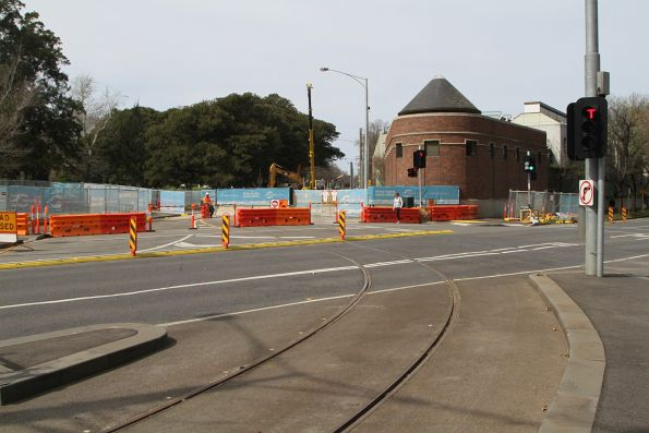 Tram tracks leading to Domain Road are now disused