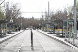 New tram stop at the junction of St Kilda Road and Toorak Road West