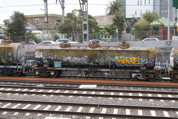 Unidentifiable tank wagon on the move at Middle Footscray