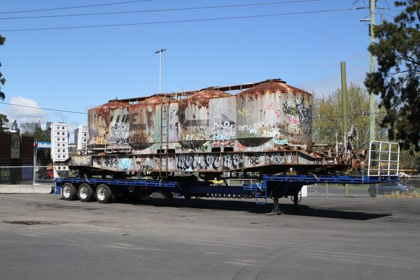 FX / VPFX flour hopper off rail at North Dynon and waiting to be trucked to the scrap yard