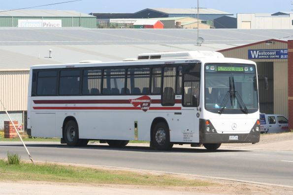 Warrnambool Bus Lines number 4 rego 3929AO