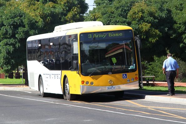 Mitchell Transit #44 5644AO on a route 3 service at Seymour station