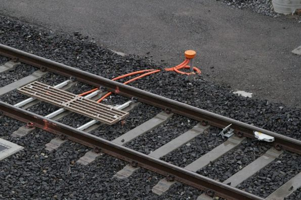 TPWS grid and axle counters provided on the new non-electrified Regional Rail Link tracks at Footscray