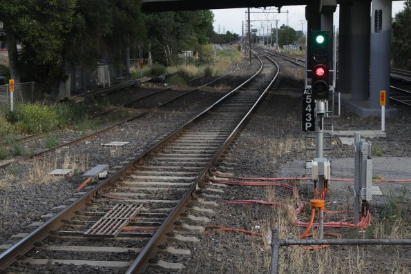 TPWS fitted to signal ALB543 on the suburban tracks at Albion