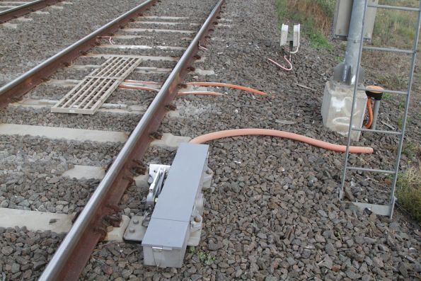 Trainstop and TPWS equipment fitted to signal SDM719 for down trains at Sydenham