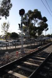 TPWS retrofitted to signal M688 at Keilor Plains