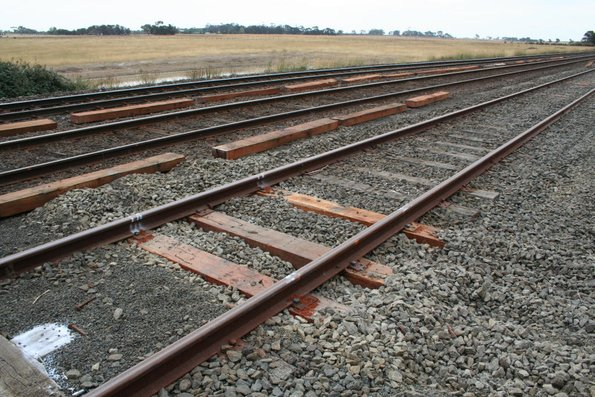 Upgraded track at Gheringhap