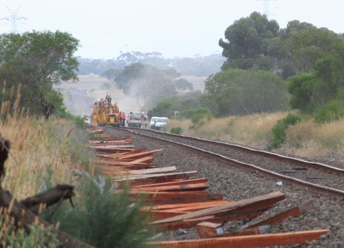 Trackwork between Gheringhap and Bannockburn