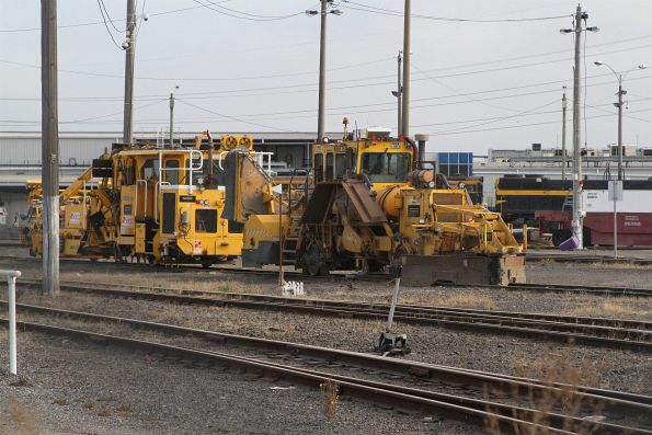 Ballast tamper and regulator stabled at North Dynon