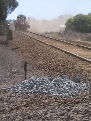 Ballast regulator at work at South Geelong