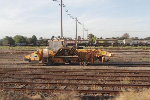 McConnell Dowell ballast regulator stabled at Tottenham Yard