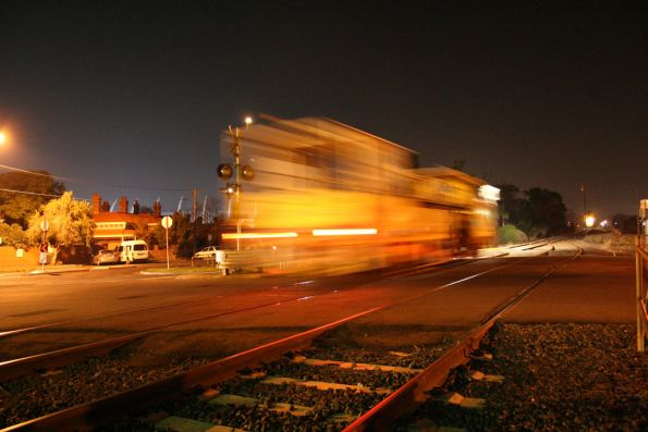 Ballast tamper runs through South Geelong