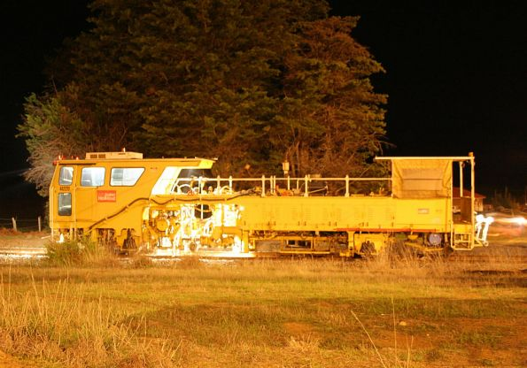 Ballast tamper at work near Surfcoast Highway