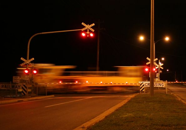 Ballast tamper crossing Surfcoast Highway