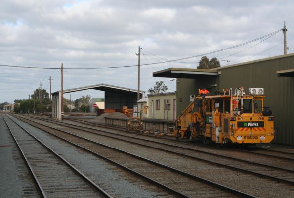 Shepparton yard, Pandrol Jackson 6700s tamper, operated by Downer EDI Works, coded RTM3005