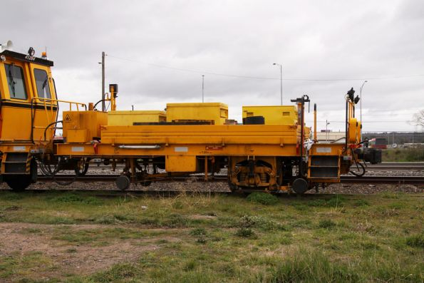 Rear trailer of Plasser and Theurer 09 32 CSM ballast tamper