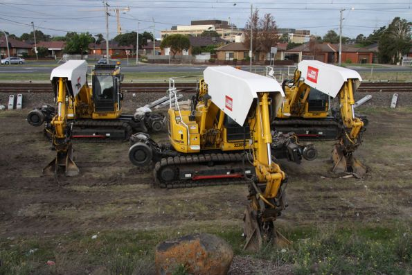 Excavators for handling concrete sleepers for spot replacement works