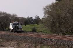 Reversing down the up line at Warrenheip Loop - it must need to check both tracks
