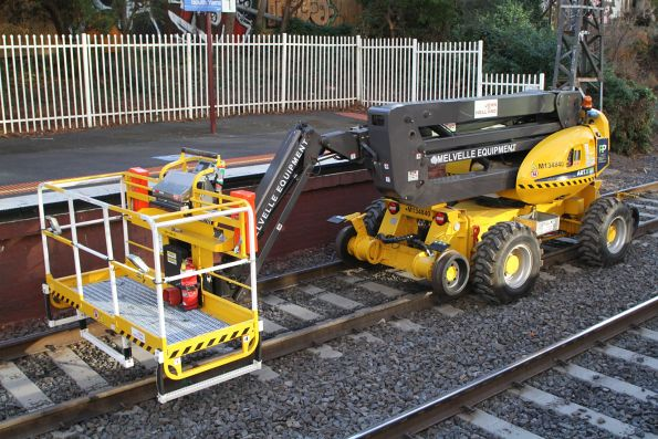 Hi-rail fitted boom lift with type 9A directly driven rail wheels