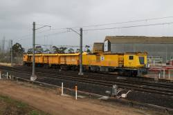 Rail grinder RG2 stabled at Albion