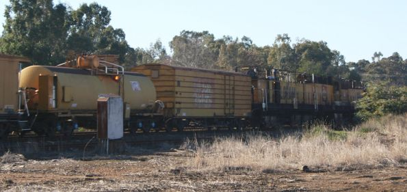 Loram / John Holland rail grinder RG7 runs through Seymour