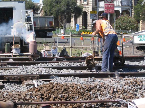 Track welding at South Geelong