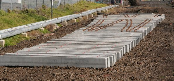 New concrete set of points being constructed at Newport South
