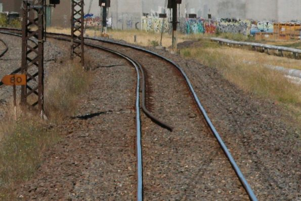 Check rail on the East line at Champion Road, Newport