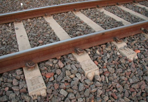 Numbers on the end of concrete sleepers manufactured by Austrak