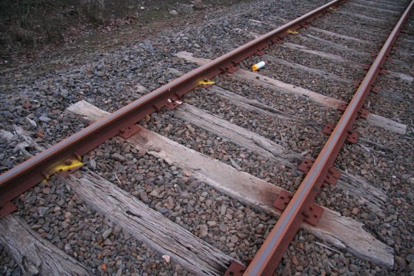 About 1 in 4 sleepers marked for replacement on the Portland line at Branxholme